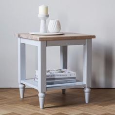 The Hudson Living Marlow Nest of Table is built with elegance. Each table is made with the highest quality solid oak and has been painted with a misty grey colour perfect for creating chic, cottage style in your home.