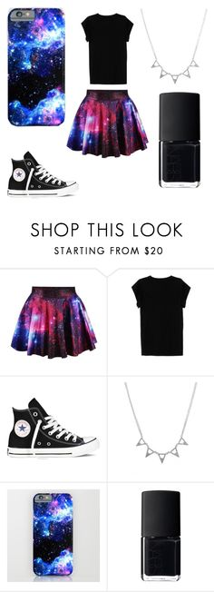 """""""Black and galaxy!"""" by sabine17may ❤ liked on Polyvore featuring Isabel Marant, Converse and NARS Cosmetics"""