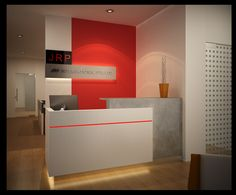 Image result for MODERN OFFICE WHITE RED MAPLE