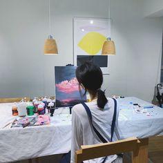 Artist Aesthetic, Beige Aesthetic, Aesthetic Photo, Aesthetic Painting, Son Hwamin, Hwa Min, Teen Relationships, Art Test, Korean Beauty Girls