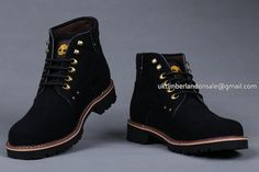 Black Timberland Chukka Boots For Men And Metal Parts $76.00