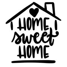 Silhouette Design Store: Home Sweet Home Vinyl Crafts, Vinyl Projects, Sweet Afton, Sweet Home, Silhouette Design, Word Art, Wood Signs, Stencils, Cricut