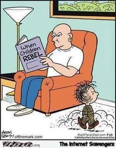 Mr Clean has a rebellious child funny cartoon