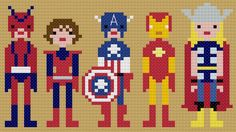 Super hero cross stitch