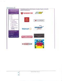 Merci aux sponsors sur le site Web / thanks to sponsors on website - Airdrie Public Library AB