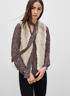 TALULA PARK SLOPE VEST - <p>Top things off with some luxe faux fur</p>