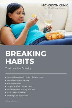 Breaking Bad Habits That Lead to Obesity - Are you guilty of any of these bad habits? Each of these habits could contribute to weight gain or difficulty losing weight. Easy Weight Loss Tips, Fast Weight Loss, Weight Gain, Lap Band Surgery, Gastric Sleeve Surgery, Best Doctors, Bariatric Surgery, Weight Loss Surgery, Health Facts