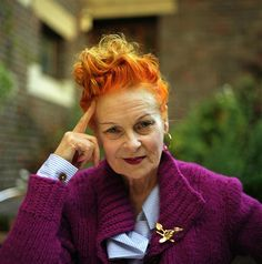 Vivienne Westwood. Love her style! Gorgeous!