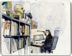 Wil Freeborn's sketchbook art