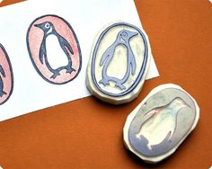 Penguin books logo - The penguin inside the orange oval is always with me.