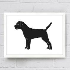 Border Terrier Dog Silhouette Print