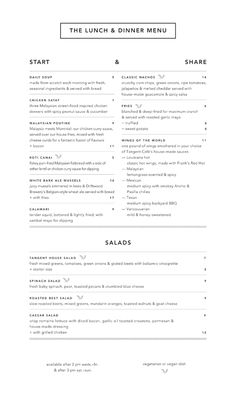 Tangent Café menu designed by Fivethousand Fingers / Juxtaposing a welcoming logotype with precise hairline rules makes for an honestly hip menu / Art of the Menu Cafe Menu Design, Restaurant Menu Design, Lunch Menu, Dinner Menu, Menue Design, Brunch Cafe, Menu Layout, Coffee Design, Menu Template