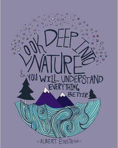 Look deep into nature, you will understand everything better