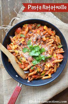 Pasta Ratatouille #MeatlessMonday #recipe #dinner #vegetarian #pasta