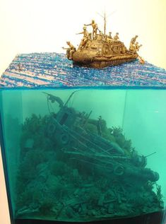 A great example of underwater diorama Resin Crafts, Resin Art, Military Modelling, Military Diorama, Model Ships, Miniture Things, Stop Motion, Small World, Plastic Models