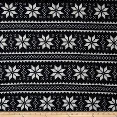 Winterfleece Nordic Star Black from @fabricdotcom  This soft, warm and cozy fleece is medium weight, double-sided and anti-pill. Perfect for throws, blankets, jackets, hats, mittens, scarves, slippers, pillows, vests, pullovers and much more! Colors include black and white.