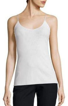 Lafayette 148 New York Mesh Jersey V-Neck Camisole Fashion, Dream, Girl, Love, Pretty, Spring, Summer, Fall, Autumn, Winter, Sweet, Make Up, Model, Model, Style, Cute, Forever, Beautiful, Lovely, Want, Heart, Awesome, Unique, Hipster, Pretty, Dreams, Simple, Outfit, Clothes, Accessories, Color #ad