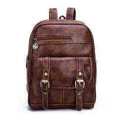 Oferta: 27.52€. Comprar Ofertas de Snug star - Bolso mochila  de Piel para mujer Negro marrón barato. ¡Mira las ofertas!