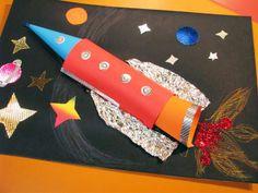 Vesmírná třpytivá raketa