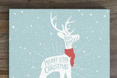 Vintage Christmas greeting by 1baranov on Creative Market