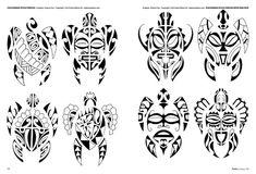 Tattoo flash book №1 - tribal style | 35 photos | VK
