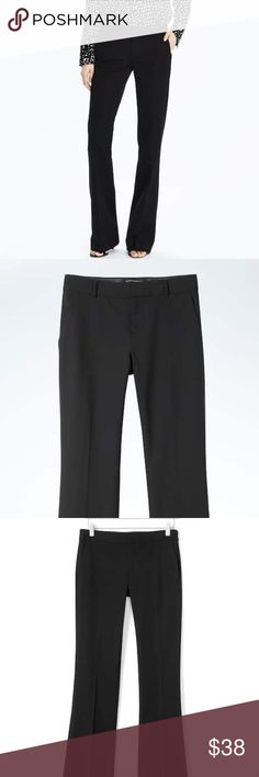 """BANANA REPUBLIC BLACK PANTS Classic and classy tailored black pants with a bit of a wide leg. 2 hook and zip closure. 31"""" inseam. Worn once. Beautiful pants! Banana Republic Pants"""