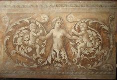 Monochrome decoration, Antique Roman style | Italian Frescoes