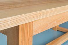 Handmade Table, Dining Tables, Foot Rest, Earthy, Bespoke, Loom, Ash, British, Interiors