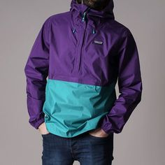 the Patagonia Torrentshell Pullover Jacket now in at Urban Industry Patagonia Outfit, Patagonia Jacket, Patagonia Clothing, Vintage Adidas, Mens Clothing Styles, Look Cool, Vintage Outfits, Menswear, Fashion Outfits