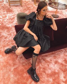The Prairie dress was everywhere in and will still be in Courtesy of Cecilie Bahsen. As seen worn by Danielle Bernstein, among others. Cute Dresses, Casual Dresses, Casual Outfits, Cute Outfits, Simple Dresses, Dress Outfits, Fall Outfits, Fashion Outfits, Fashion Trends