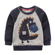 Kids' Clothing, Shoes & Accs Tops, Shirts & T-shirts Gymboree Boys Long Sleeve T-shirt Size 4 Great Fox Trails Orange Navy Blue A Complete Range Of Specifications