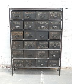 For the Foyer. Draper's cabinet by Charbon. Industrial Chic Style, Vintage Industrial Decor, Industrial House, Vintage Decor, Vintage Metal, Industrial Storage, Industrial Office, Industrial Design, Set Of Drawers