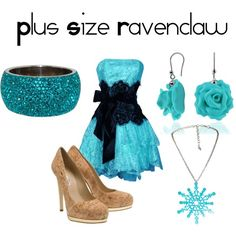 Plus Size Ravenclaw, created by nearlysamantha on Polyvore