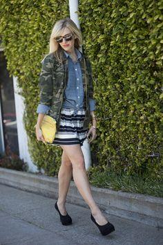 camo jacket plus mixed patterns