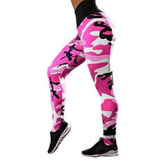 31f08ef3786e4 Running Yoga Pants Women Ladies Camouflage Printing Fitness Workout Sports  Gym Athletic Pants