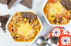 Slow Cooker Chicken Fajita Chili