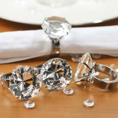 'Diamond' Engagement Ring Napkin Rings  https://www.etsy.com/ca/listing/398480573/beautiful-diamond-tableclothlinen-napkin