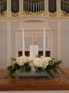 Arrangement at altar - unity candle
