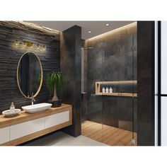 Bathroom decor for your master bathroom renovation. Discover bathroom organization, bathroom decor a few ideas, master bathroom tile a few ideas, bathroom paint colors, and more. Bathroom Design Luxury, Bathroom Layout, Modern Bathroom Design, Bathroom Designs, Bathroom Mirrors, Remodel Bathroom, Modern Luxury Bathroom, Bathroom Cabinets, Minimal Bathroom