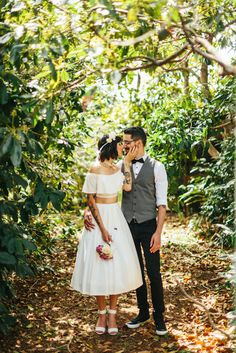 Lace off the shoulder crop top paired with a flared skirt ? mouba.com.au  #weddingdress #croptop