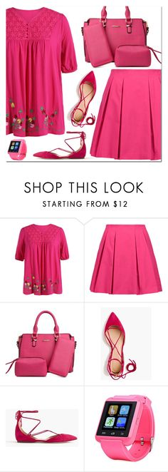 """Color Me Pretty: Head-to-Toe Pink"" by oliverab ❤ liked on Polyvore featuring Alice + Olivia, J.Crew, rosegal and monochromepink"