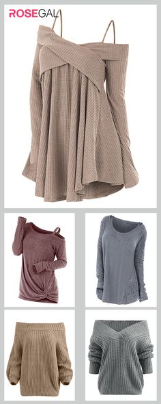 Rosegal Plus Size Cute Sweater cozy fall outfits ideas - Dıy Jewelry Metal Ideen Fashion Mode, Look Fashion, Autumn Fashion, Fashion Outfits, Retro Fashion, Fashion Edgy, Fashion Black, Fashion Shoes, Cozy Fall Outfits