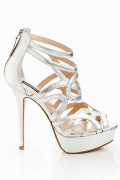 6dddf9aa26c60c Metallic Cut-Out Sandals ♥ Dream Shoes