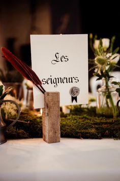 Crédit photo : D'un clic Anita Gallot  Réalisation madame martine / planning de rêve  Mariage médiéval mais pas trop