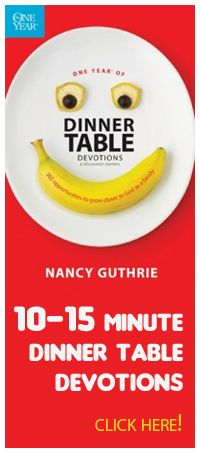 """The idea of """"family worship"""" is completely foreign in most Christian homes today.  And even when their is a desire, very often parents feel inadequate or awkward. That's understandable.  One Year Dinner Table Devotions is a great resource to help parents begin! http://www.graceonlinelibrary.org/home-family/family-worship/one-year-of-dinner-table-devotions-and-discussion-starters/"""