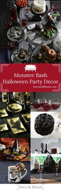 The Monster Bash: Halloween Party Decor - From the Home Decor Discovery Community at www.DecoandBloom.com