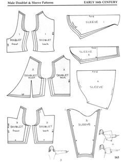 sewing pattern arming coat medieval - Google Search
