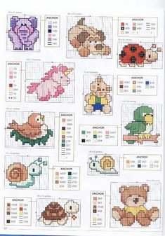 The snail is so cute Small Cross Stitch, Cross Stitch For Kids, Cross Stitch Needles, Cross Stitch Cards, Cross Stitch Baby, Cross Stitch Animals, Cross Stitch Designs, Counted Cross Stitch Patterns, Cross Stitching