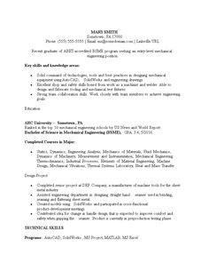 Entry Level Mechanical Engineering Resume View A Professionally Written Pharmacist Resume Sample And Learn How .