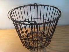 Antique Primitive French Metal Wire Vegetable/Potatoes/Fruit Basket with handle #NaivePrimitive